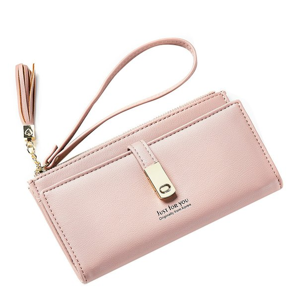 Women Phone Bags Wrist Band Fashion Long Tassel Woman Purse HASP Designer Female Wallet Clutch Leather Ladies Purses Card Holder