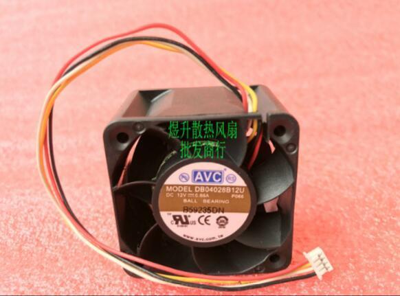 Оригинальный АВК 4028 DB04028B12U 12В 0.Вентилятор 66A3/4 сервер для охлаждения