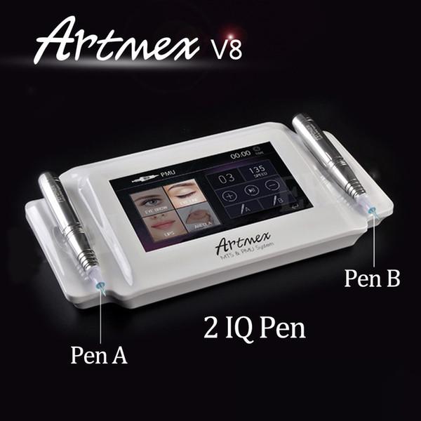 Artmex V8 Maquillage Digitale Eyeline Sourcils Eyeline 2 en 1 MTS / PMU Numérique Professionnel Permanent Maquillage Tattoo Machine Stylo Rotatif