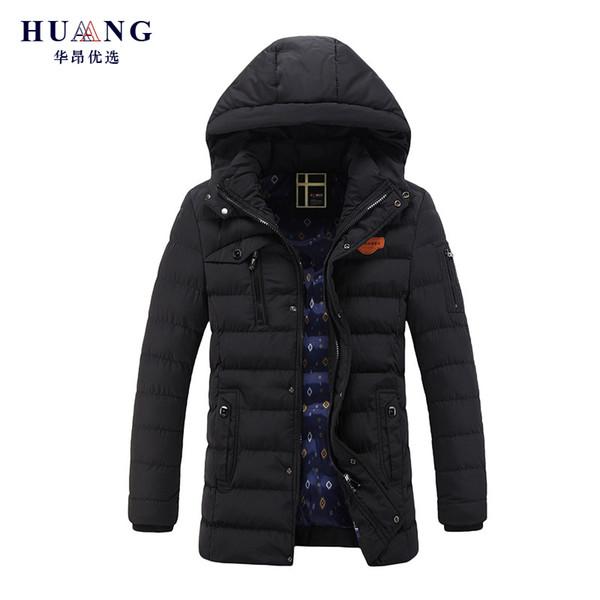 2018 Winter Jacke Männer Warm Verdicken Mantel Hut Abnehmbare Baumwolle Parkas Herren Mit Kapuze Outwear jaqueta masculina invernos QZ1288