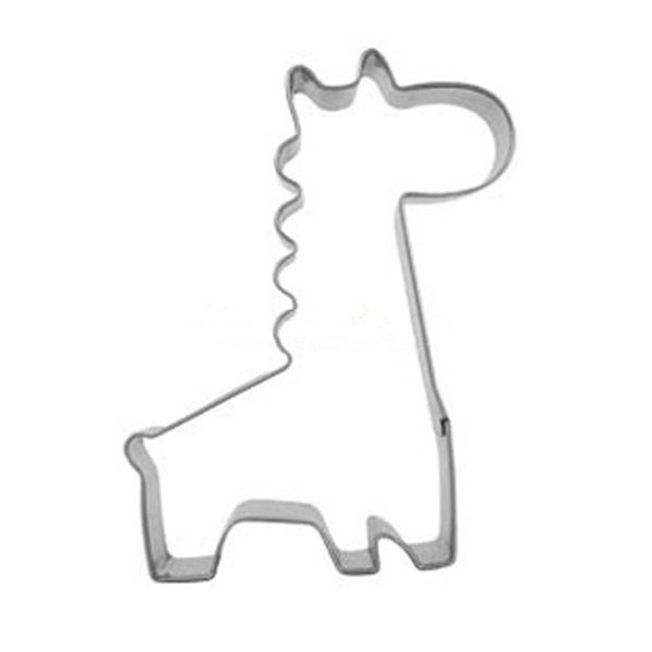 Wholesale- New Stainless Steel Cute Funny Durable Steel Giraffe Shape Mould Chocolate Cake Cookie Cutter Kitchen Baking Tools HG-1666