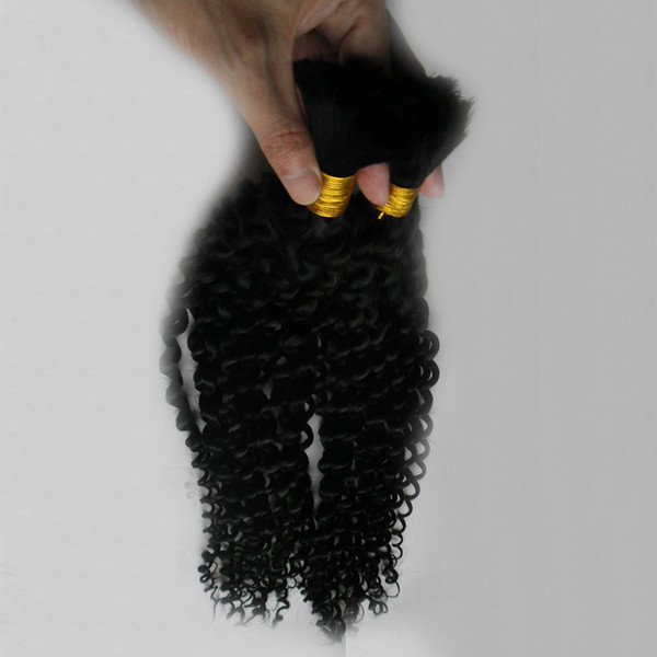 Mongolian Verworrene Lockige Afro Häkeln Zöpfe Lockige Frisur 100g Menschliches Flechten Haar Groß Lockige 1 stücke Menschliches Flechten Haar 16