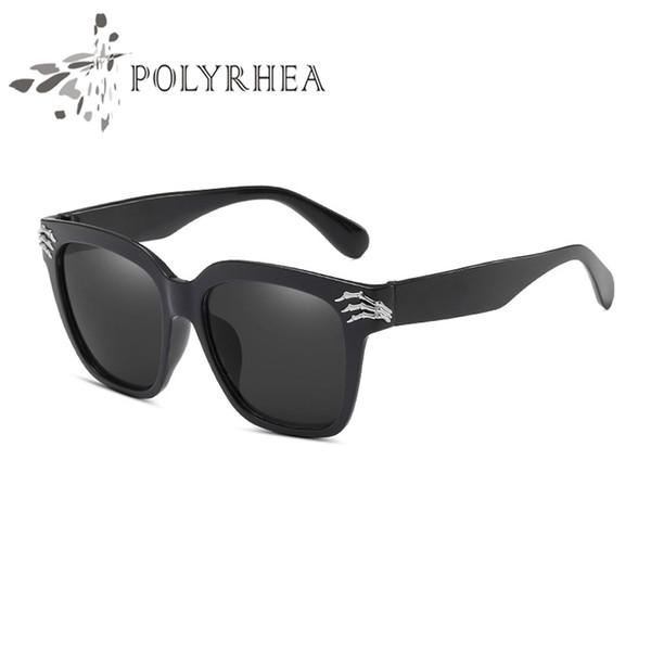 New Fashion Square Sunglasses Women Brand Designer Sun Glasses Europe Style Matte Black Square Flat Top Oversized Sunglasses With Box