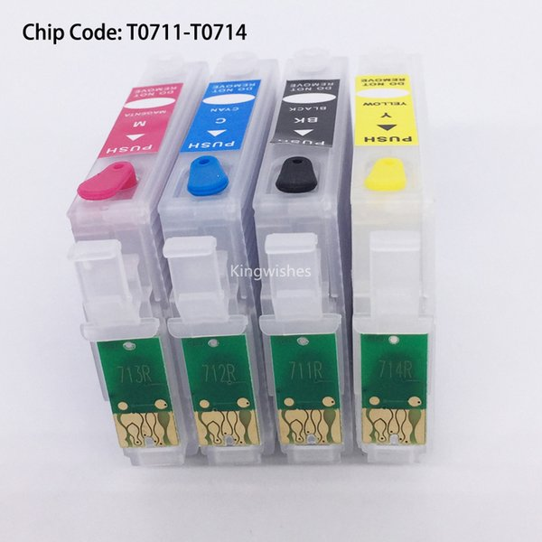 T0711 Refillable Cartridge With Chip For Epson SX100 SX110 SX200 SX209 SX210 SX400 SX510W BX310FN BX300F BX3450F BX600FW BX610FW