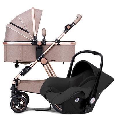 Carrinho de bebê de alumínio moldura padrão da UE alta paisagem bebê carro 2 em 1 carrinho de marca carrinhos