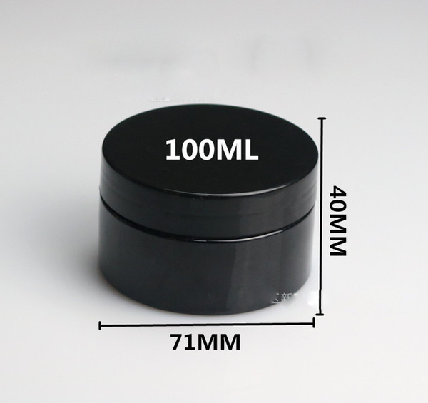 (40pcs)100ml Black plastic bottle Cosmetics packaging box Mask tank 100cc Empty cosmetic containers Empty jar Free delivery