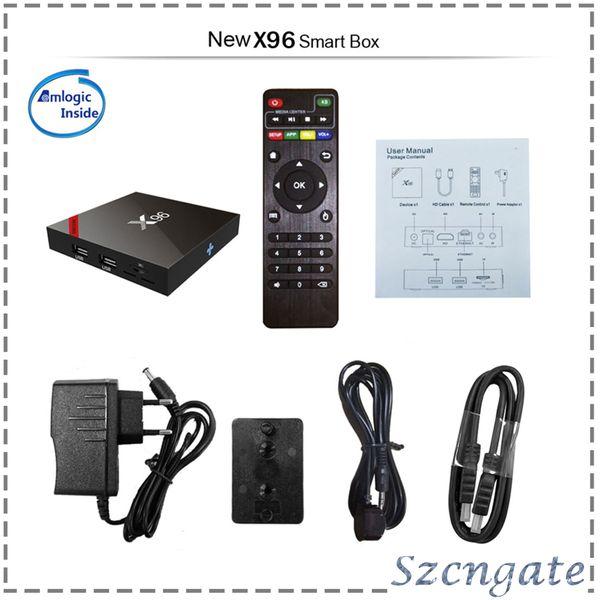 X96 Android TV BOX Amlogic S905X Quad Core KD Marshmallow Smart Box TV 4K Mini PC Wifi HDMI ROM 1G 8G X96 770049-1