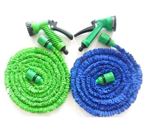 top popular Garden Hose Expanding Magic Flexible Watering Hose Plastic Hoses Pipe With Spray Gun Tube Hoses 50FT Garden Water Hose KKA1871 2019