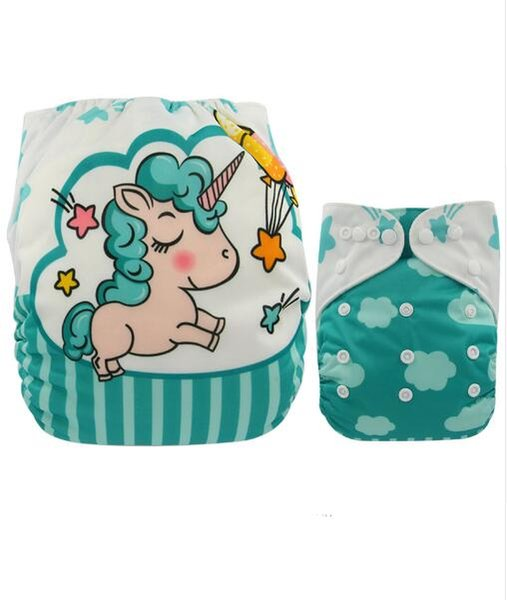 2019 Baby Diapers Reusable Nappies Christmas Cartoon Positional Digital Print Newborn Cloth Diaper Washable Pocket Diaper Cover Hot From Shelly57