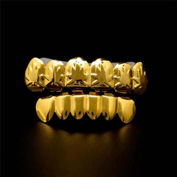 High Quality Hip Hop Grillz Teeth 18K Gold Plated Men Hiphop Jewelry Maple Teeth Grills Rapper fashion Accessories