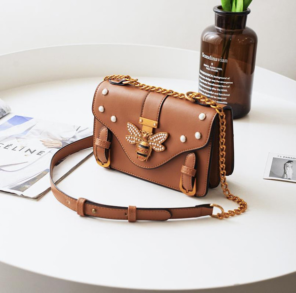 2019 brand handbags luxury beer handbag designer shoulder bag High quality latest ladies chain shoulder bag Cross Body bag free shopping