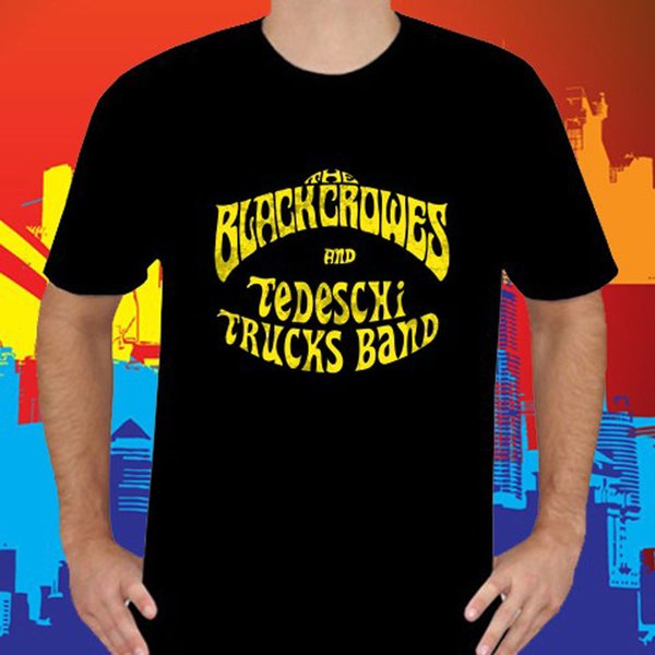 Cool Shirts Men's The Black Crowes And Tedeschi Trucks Band Men's Black T-Shirt Sizes S To 3XL Free Ship O-Neck Short Premium