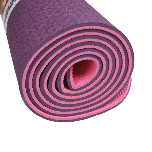 WEING yoga matte Qualität Falten rutschfeste Oberfläche Leichte Komfortable 6mm Naturkautschuk TPE Yoga-Matte für Anfänger mit Tasche