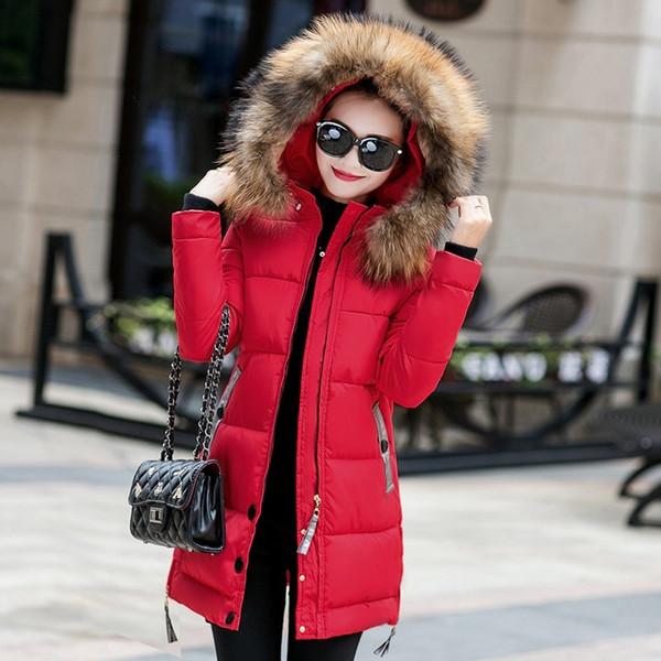 New Keep Warm Winter Long Women Coats Parkas Casual Female Coats Ladies Outwear Fashion Women Clothing Warm Winter Jacket FJT574 S18101503
