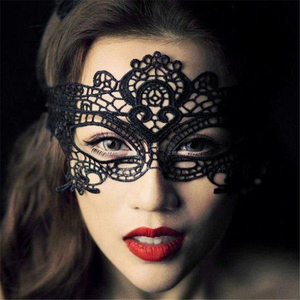 1pc Women Sexy Lace Eye Mask Black Party Masks For Masquerade Halloween Venetian Costumes Carnival Mask For Mardi