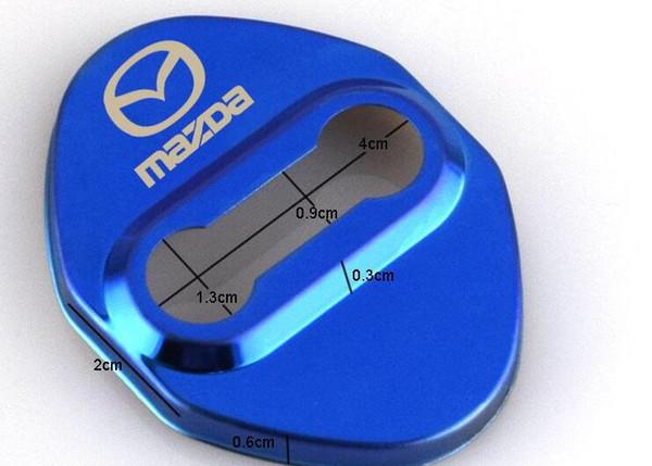 Tampa da fechadura da porta do carro emblemas do logotipo crachá para Mazda 3 6 2 cx3 cx5 cx7 323 protetor de Bloqueio da porta Do Carro acessórios de estilo