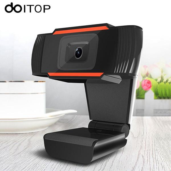 Compre DOITOP Rotatable HD Webcams 640 * 480 480 P 12 0MP Computador Web  Cam Camera Com Microfone Do Microfone Para Laptop Para Skype Android TV De