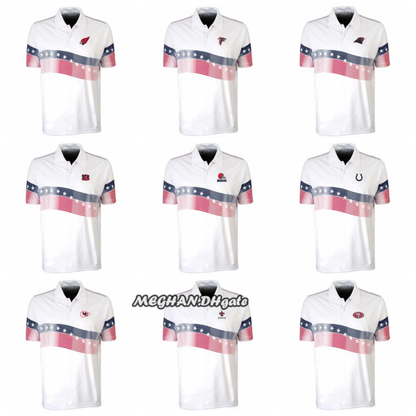 competitive price 3f47d e6023 2018 Antigua Cardinals Cleveland Browns Indianapolis Colts Kansas City  Chiefs New Orleans Saints San Francisco 49ers White Patriot Polo Shirts  From ...