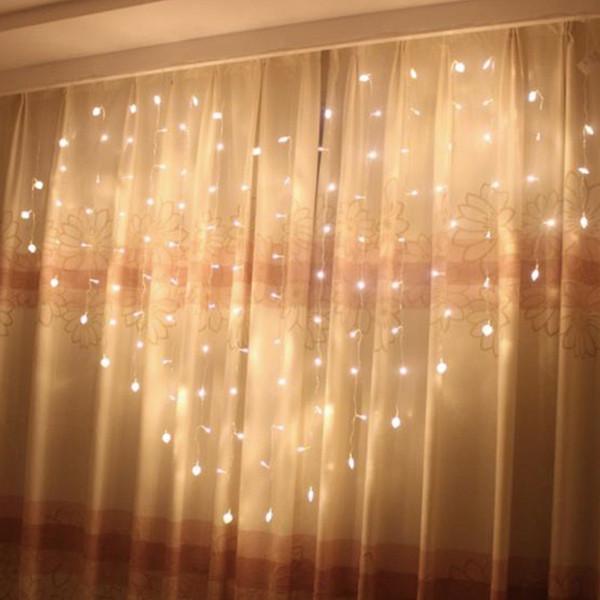 Acheter Rideau De Fées En Forme De Coeur LED Lumière 2 * * 1,5 M 124 Leds  Saint Valentin Noël Fête De Mariage Fenêtre Guirlande De $26.02 Du ...