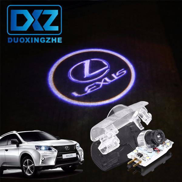 DXZ Araba Logo Kapı Hoşgeldiniz Işık Araba LED Projektör Lazer LEXUS RX300 RX330 RX350 IS250 LX570 Için lx470 lx460 is200 is300 ls400