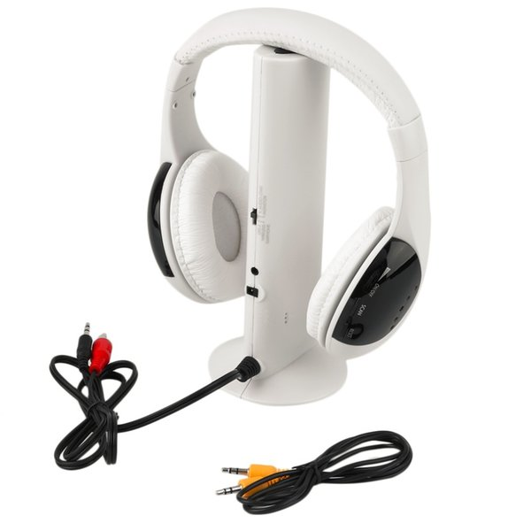 Multifunción 5 en 1 HiFi Auriculares inalámbricos Auriculares Auriculares Monitor inalámbrico Radio FM MP3 PC TV Audio Teléfonos Envío gratuito