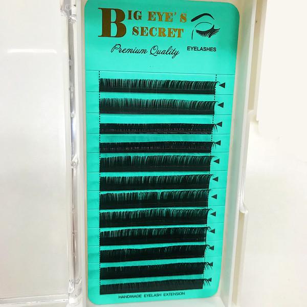 2019 Soft material Korea PBT high quality Private label individual eyelashes lash eyelash extensions eyelashes extension professional