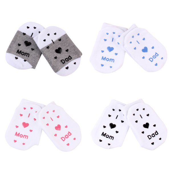 Lovely Baby Mom Dad Letter Socks Newborn Toddler Infant Sock Kids Love 0 3T Birthday