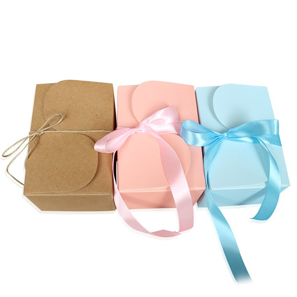 20PCS High Quality Pink Paper Cake Box Beautiful Cupcake Packaging Boxes Wedding Favors And Gifts Cookie Packing