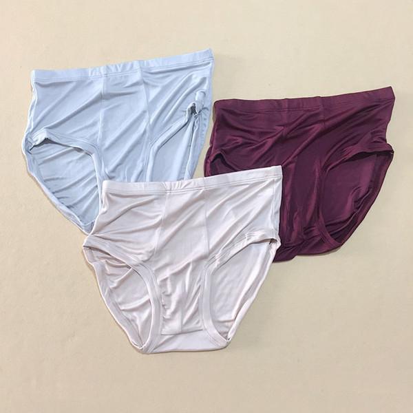 3 пары мужские 100% шелковые трусы вязание шелковые трусы трусики для мужчин мальчик красный синий бежевый ML XL XXL