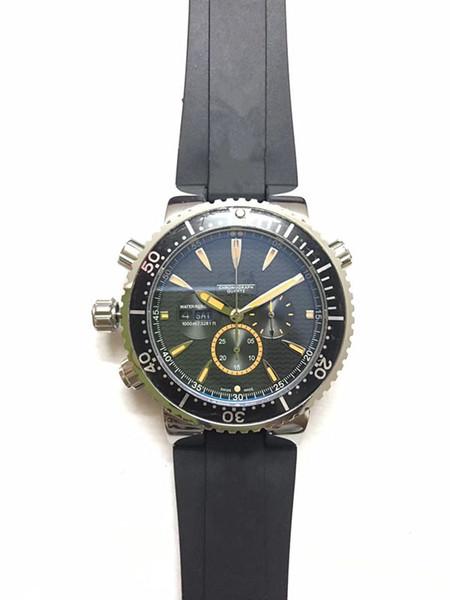 Оптовая продажа люксовых брендов высшего качества мужские часы черный 44 мм циферблат резиновый или ремешок из нержавеющей стали часы импорт японский кварцевый механизм OS00 ш