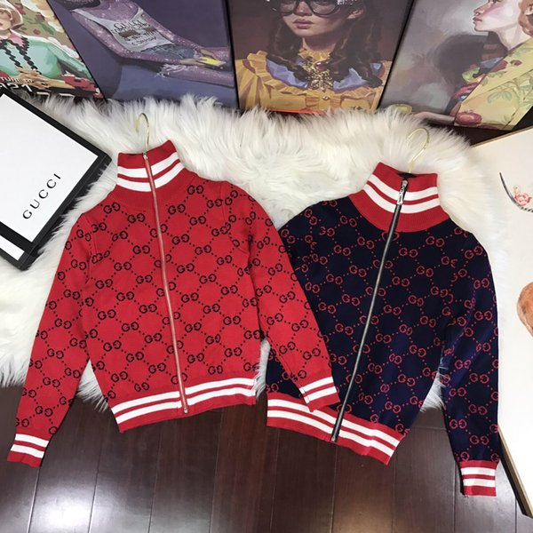 2018 new children's clothing Explosion models recommended rabbit-knitted blended knit zipper sweater fabric super soft Threaded cuff design