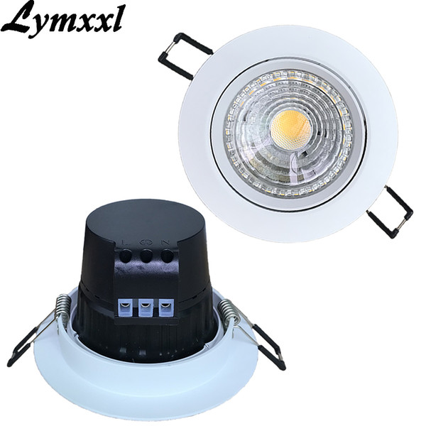 10pcs Warm Cool Nature Bianco 12W 15W da incasso a LED Lampade a soffitto Power drive dissipatore di calore AC110v 220 v bianco shell LED Downlights