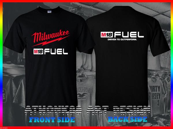 T-SHIRT Milwaukee M18 YAKıT T-SHIRT Milwaukee YAKıT Elektrik Aletleri T-SHIRT O-Boyun T Gömlek Casual O-Boyun Baskı t shirt Tops Erkekler