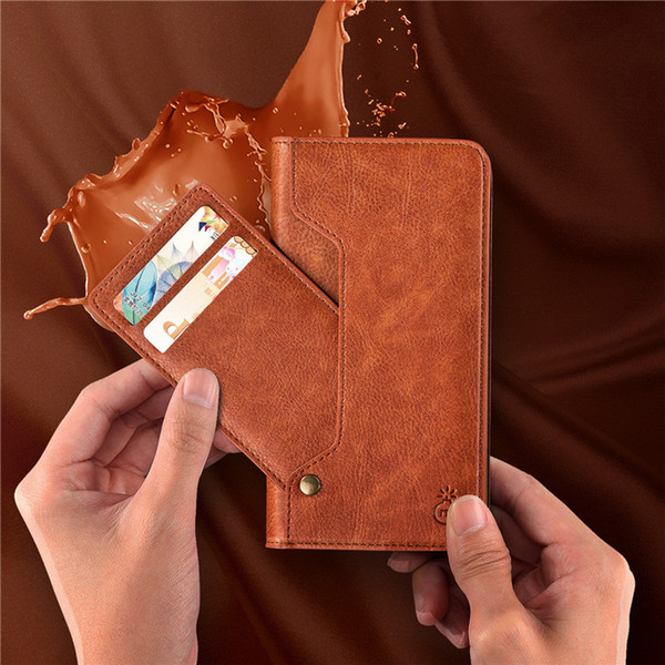NEW Leather Flip Phone Case Elegante Slot Para Cartão Titular Negócios Estilo Smartphone Tampa Traseira para o iPhone X 8 7 6 S Plus Samsung Galaxy S8 S8PLUS