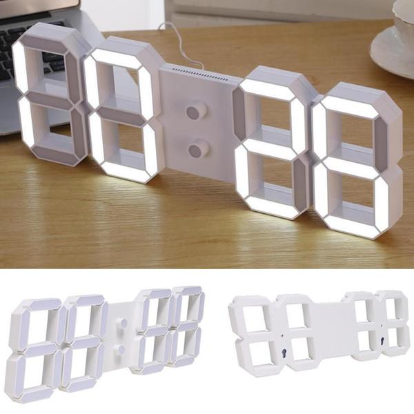 Home Remote Digital Wall LED 3D Nuevo reloj de visualización moderno Clock Control