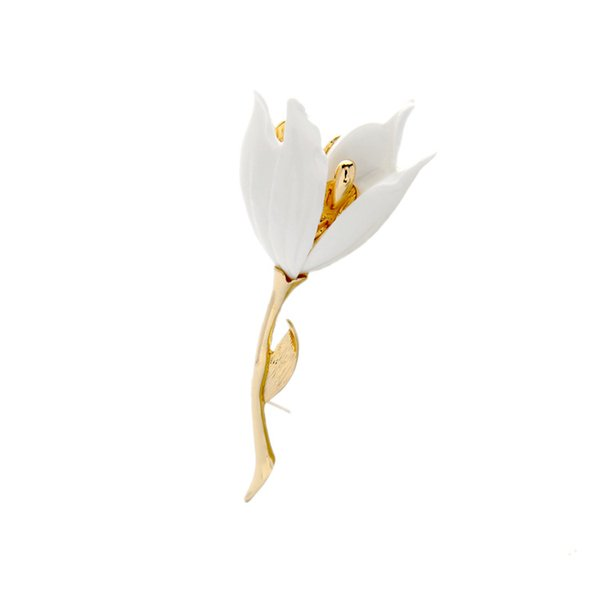 High End New Fashion White Flower Pin Lily Suit Brooches Pin wedding brooch