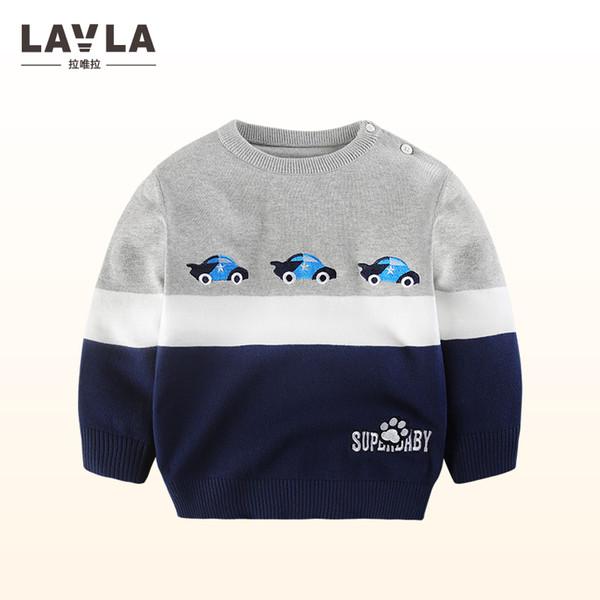 Compre Lavla 2018 Nuevos Bebés Suéteres Del Coche Patrón De Algodón ...