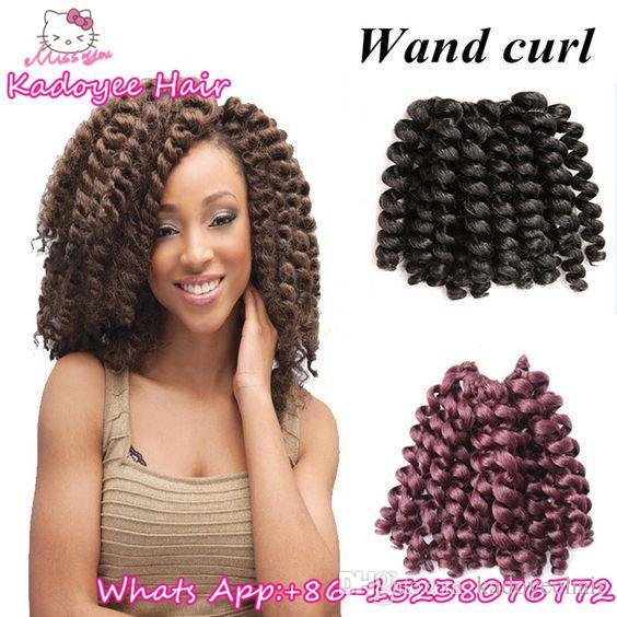 Synthetic braiding hair for black women styles hair attachments for braids bouncy wand curl ombre baiding hair bundles UK USA AFRICAN