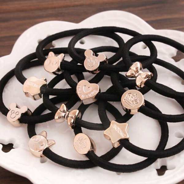 50pcs/lot Cloth Material Head Rope For Lady Hair Ornament For Gift With Several Decor Designed Head Rubber Bands Hair Jewelry Accessories