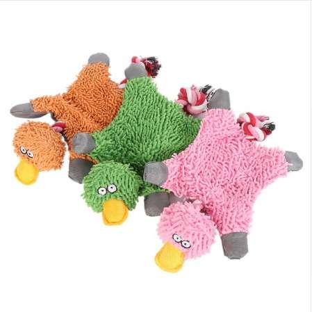 BVLovely 32*19cm Pet Supply Cute Papa Duck Plush Dog Toy With Rope Dog Toys