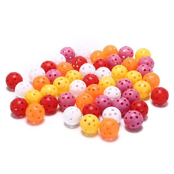 50pcs práctica de golf portátil entrenamiento balones deportivos Whiffle Airflow hueco para pre-juego caliente Ups pelota de golf duradero ligero