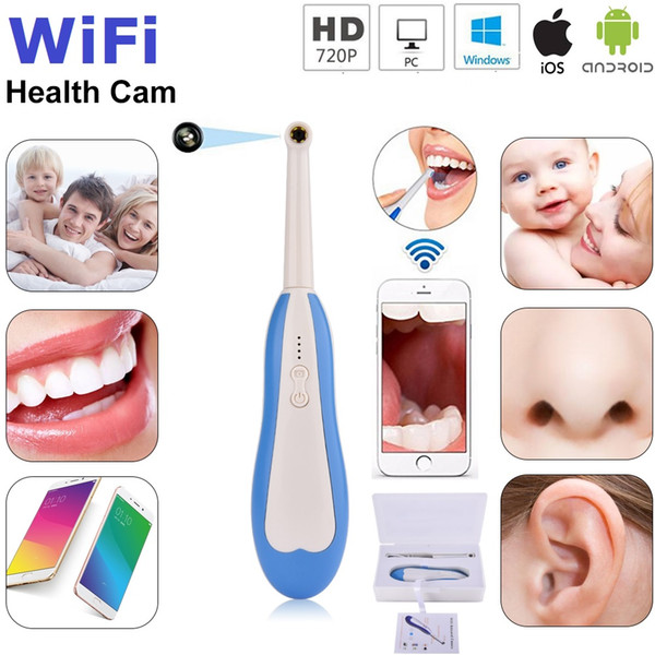 best selling WiFi HD Dental Camera Intraoral Endoscope LED Light Monitoring Inspection Oral Real-time Video Dental Tools