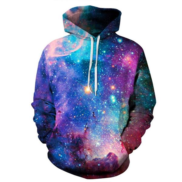 Acacia Person Space Galaxy Hoodeis Men/Women Hooded Hoodies Cap 3d Sweatshirt Print Stars Angles Hoody Tracksuits Pullover