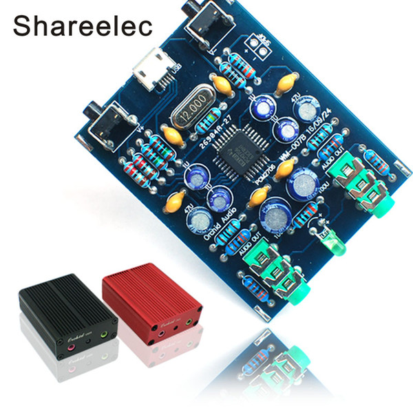 Shareelec PCM2706 HI USB Soundcard DIY Kit USB DAC SPDIF Android Compatible  MicroUSB Windows Without Driver Plug And Play Wireless Speakers Speaker