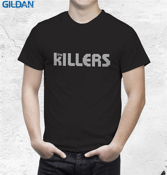 New 2017 Fashion T Shirts Novelty O-Neck Short Sleeve Tees Best Selling The Killers Logo Rock For Men