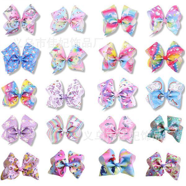 Heißer verkauf 20 design Mädchen Einhorn Haarbögen kinder großen Bowknot Haarnadeln Headwear Haar Zubehör T3I0415