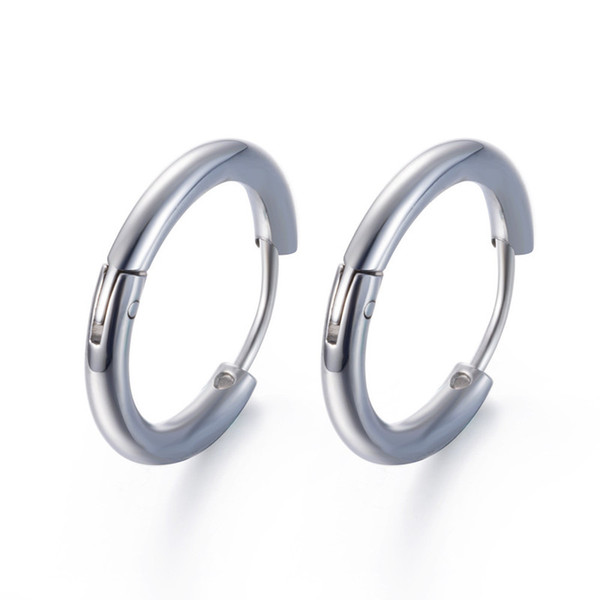 Latest Design Korean Fashion Stainless Steel Small Hoop Earrings Gay Pride Earring For Man Women Aretes Dropshipping