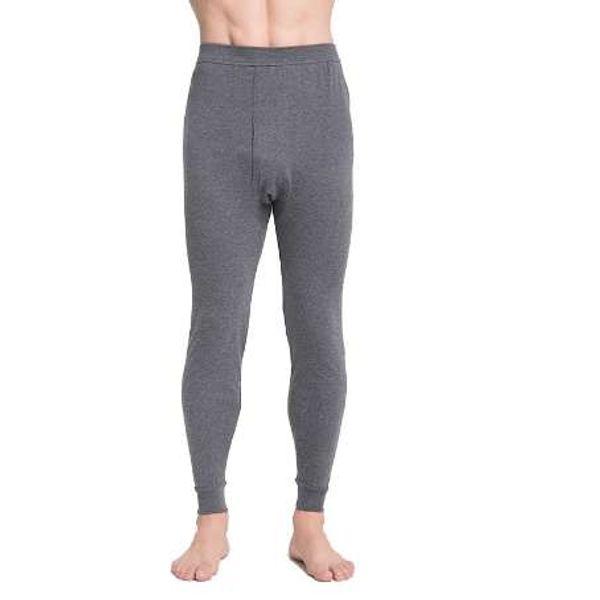 Erkek paçalı don erkekler termal iç çamaşırı gevşek ince külot legging gri ve derin gri boyutu L 5XL