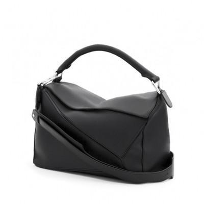 alta calidad ~ w331 rompecabezas de cuero genuino con cremallera hombro bolso lo marca de moda inspirado en la marca de las mujeres 29 * 19.5 * 14 cm negro naranja azul violeta
