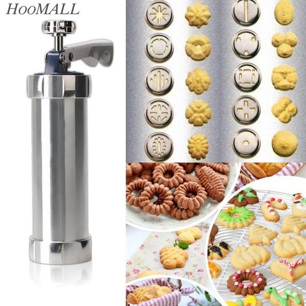 Al por mayor- Hoomall Cookie Biscuits Mold Press Machine decoración de pasteles Biscuit Maker Set hornear pasteles Herramientas Cookie Mold (20pcs) herramienta de la cocina